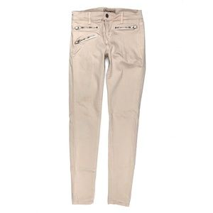 J Brand 26 Zoey Triple Zip Tan Skinny Moto Jeans